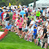 Spectators line the 18th hole on Sunday to watch the final round of The Greenbrier Classic. Chris Tilley/The Register-Herald
