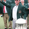 Tedd Potter Jr standing with the trophy on the 18th green after winning The Greenbrier Classic.<br /> Marcus Constantino/Charleston Daily Mail