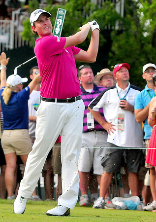 Webb Simpson Tees off form the 18th tee in the final round of play during The Greenbrier Classic on Sunday.Chris Tilley/The Register-Herald