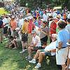 Large crowd on the 15th hole during the final round of The Greenbrier Classic.<br /> Rick Barbero/The Register-Herald