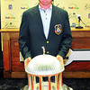 Ted Potter, Jr,  winner of the Greenbrier Classic poses with the trophy. Chris Tilley/The Register-Herald