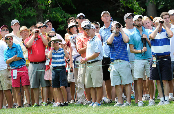 Fans watching the first round of The Greenbrier Classic held on The Old White TCP course in White Sulphur Springs.<br /> Rick Barbero/The Register-Herald