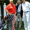John Daly, left, standing with Elmer Coppoolse on the 10th tee box during The Greenbrier Classic Pro-Am held on The Old White TPC course.<br /> Rick Barbero/The Register-Herald