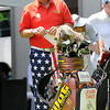 John Daly getting ready to tee off on the 10th hole during The Greenbrier Classic Pro-Am held on The Old White TPC course.<br /> Rick Barbero/The Register-Herald
