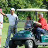 Tiger Woods, second from left, walking down the 12th fairway during The Greenbrier Classic Pro-Am held on The Old White TPC course.<br /> Rick Barbero/The Register-Herald