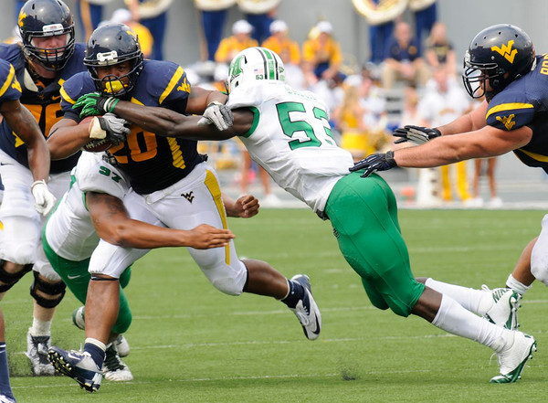 WVU vs Marshall in the Friends of Coal Bowl Saturday in Morgantown.<br /> Rick Barbero/The Register-Herald
