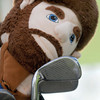 F. BRIAN FERGUSON/THE REGISTER-HERALD=The WVU Mountaineer served as a club cover during Saturday's opening round of the BNI at Grandview.