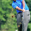 Winston Canada tees off on the 7th hole  during the BNI Memorial Tournament on Saturday at Pipestem.