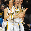 Greenbrier East vs Cabell Midland, during the quarter final game of the Girls State Basketball Tournament in Charleston.<br /> Rick Barbero/The Register-Herald