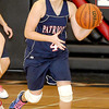 Independence High School Krista Harris, brings the ball up court during their game with Liberty High School Monday.