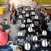 F. BRIAN FERGUSON/THE REGISTER-HERALD=Woodrow Wilson fans cheered on their Flying Eagles as they took the field against Parkersburg during Friday evening action in Beckley.