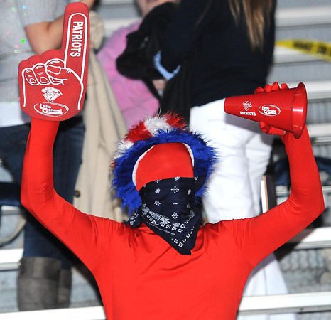 Brad Huffman, Independence student, cheer during the Independence vs Liberty Raiders game at Independence High School<br /> Rick Barbero/The Register-Herald