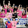 The Shady Spring High School student section shows its school spirit and support for breast cancer awareness month by wearing pink during their home game with Liberty High School on Friday night. Photo by Chris Tilley