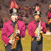 Members The Woodrow Wilson Band at halftime during their game with Hurrican on Friday night.