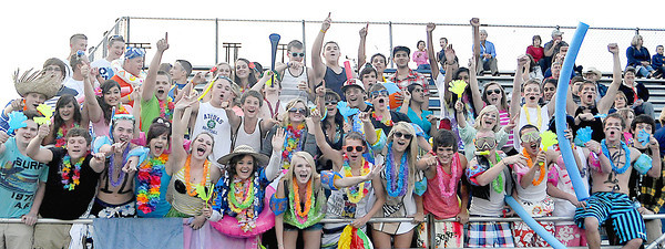 The Shady Springs High School student section during Friday Nights football game with Pikeview at Shady Spring High School.
