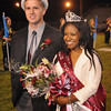 Drew Woolridge, Homecoming King, left, and Brianna Booker, Queen, got crown during halftime of the Woodrow Wilson vs Ripley Friday night at Van Meter Stadium in Beckley<br /> Rick Barbero/The Register-Herald
