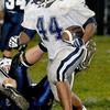 Valleys Darius Hutchinson runs the ball during Friday nights game with Meadow Bridge High School.