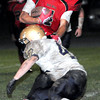 F. BRIAN FERGUSON/THE REGISTER-HERALD=Oak Hill takes on Shady Spring during the Red Devils Homecoming game in Oak Hill.