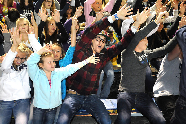 Valley fans during game against Richwood Friday night in Montgomery.<br /> Rick Barbero/The Register-Herald