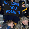 Shady Spring High School Football fans show their support for quarterback Adam Weeks during Friday nights game with Musselman at Princeton High School. Photo by Chris Tilley