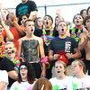 Liberty Raiders fans cheer during game against Sissonville Friday night<br /> Rick Barbero/The Register-Herald
