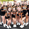 F. BRIAN FERGUSON/THE REGISTER-HERALD=The Richwood Lumberjack cheerleaders were ready to cheer on their players as they took on Greenbrier West at Charmco.
