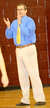 F. BRIAN FERGUSON/THE REGISTER-HERALD=  Woodrow Wilson's Coach during Wednesday evening action in Beckley.