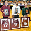 The newly inducted Woodrow Wilson High School Hall Fame Travis Parkulo class of 2008, Nate Manns Class of 2001, and Kyle Phipps Class of 1961. Photo By Chris Tilley