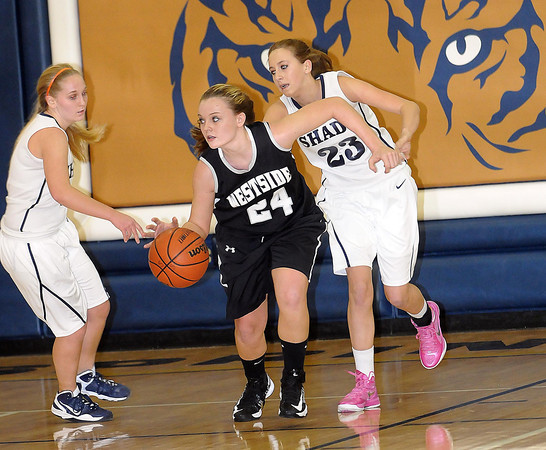 F. BRIAN FERGUSON/THE REGISTER-HERALD=Westside took on Shady Springl during Wednesday evening action in Shady Spring.
