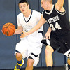 Levi Lambert, of Westside, right, tries to steel the ball away from Chase Conner, of Shady Spring<br /> Rick Barbero/The Register-Herald