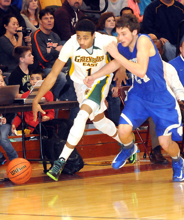 F. BRIAN FERGUSON/THE REGISTER-HERALD=Greenbrier East took on Princeton during Wednesday evening action in Bluefield.