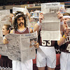 Woodrow Wilson fans at the boys state quarter final game at the Charleston Civic Center Wednesday morning.<br /> Rick Barbero/The Register-Herald
