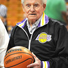 Hall of Fame coach and Mullens native Lewis D'Antoni, 99, threw up the ceremonial jump ball to start off the 100th W.Va. state high school boys basketball tournament in Charleston Wednesday morning.