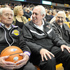 Lewis D'Antoni, Dave Barksdale and Don Nuckols enjoyed the opening session of the 100th W.Va. State Boys Basketball Tournament at the Charleston Civic Center on Wednesday. <br /> Rick Barbero/The Register-Herald