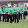F. BRIAN FERGUSON/THE REGISTER-HERALD=Fayetteville marching band takes the field for the first time this season during Friday action in Fayetteville. Aug. 24, 2012.