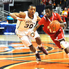 Woodrow Wilson vs Hurricane in the boys state quarter final game at the Charleston Civic Center Wednesday morning.<br /> Rick Barbero/The Register-Herald
