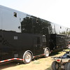DRESSED IN BLACK - THE HAULER OF SCOTT BLOOMQUIST, SITS IN THE HOT ARKANSAS SUN AT BATESVILLE SPEEDWAY