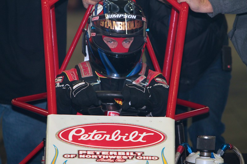 Indiana sprint car hotshoe Jon Stanbrough is ready for action at the Rumble in Fort Wayne.