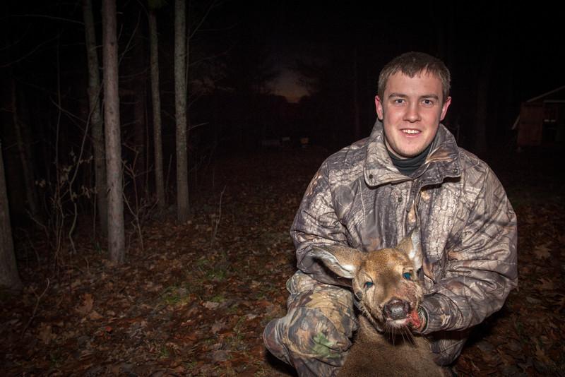 Trevor Dockham, deer camp 2012 at the Greasy Creek Resort