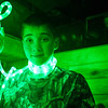 13 year old Dawson with green L.E.D. lights.
