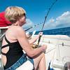 Pam, fishing in the Bahamas