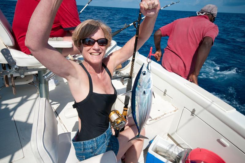 Pam and a blackfin tuna