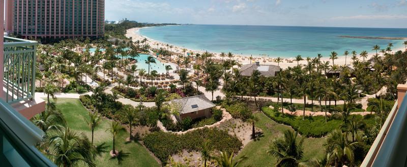 Multi-shot panorama from the balcony of my room, Atlantis, the Bahamas