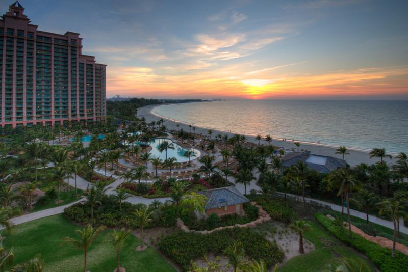 Sunset, from the balcony of my room, Atlantis, the Bahahamas