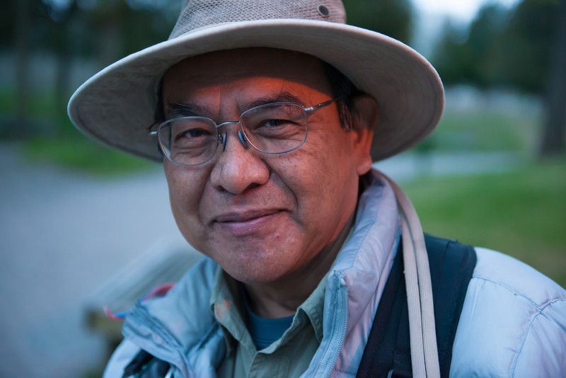 Benito, a man I met at Point Pelee.  A Chinese man living in Canada with Spanish as his primary language because he grew up in Peru.  Interesting man with strong knowledge of birding and photography.