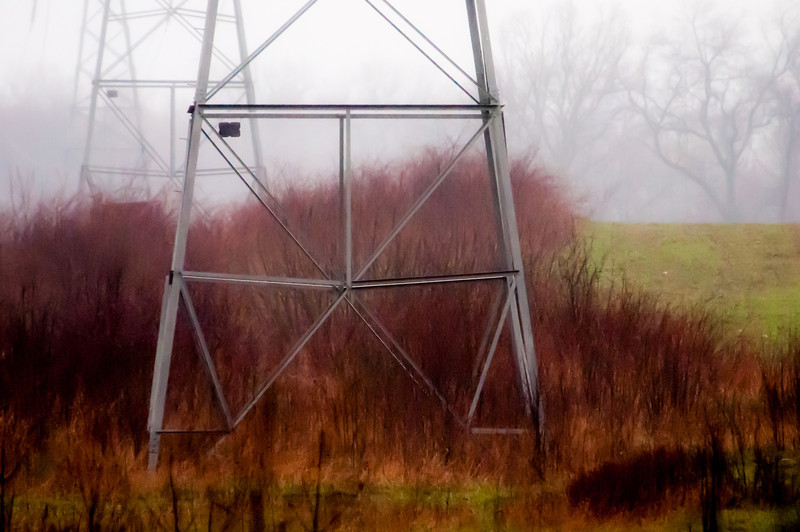 Power line towers, Bald Mountain State Game Area