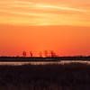 Seconds after sunrise, Metzger Marsh, Ohio on the southern Lake Erie shore.
