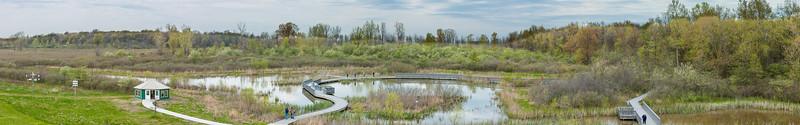 Panorama taken from the Ottawa National Wildlife Refuge headquarters building