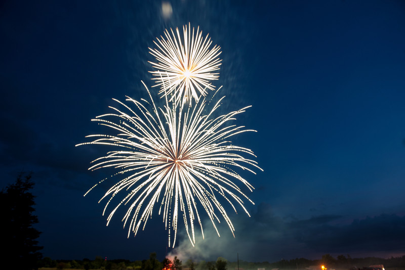 4th of July fireworks, Atlanta, Michigan