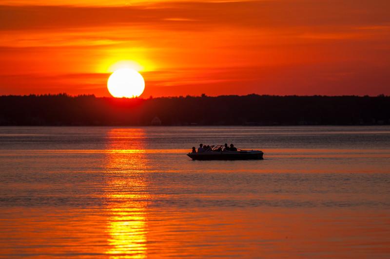 Sunset.  Lake Mitchell, Michigan